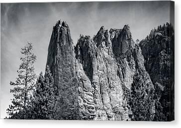 Sentinel Rock At Yosemite National Park Canvas Print