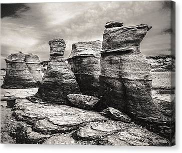 Canvas Print featuring the photograph Sentinel Rocks by Arkady Kunysz