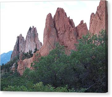 Canvas Print featuring the photograph Sentinels by Sheila Byers