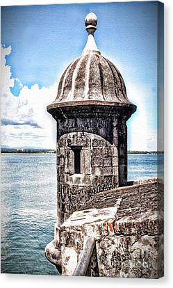 Sentry Box In El Morro Hdr Canvas Print