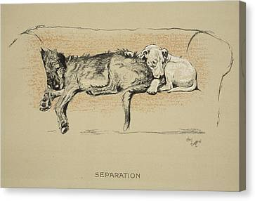 Separation, 1930, 1st Edition Canvas Print by Cecil Charles Windsor Aldin