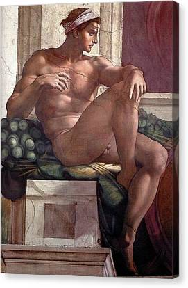 Separation Of Light From Darkness - Ignudo Detail Canvas Print