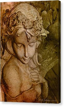 Sepia Angel Canvas Print