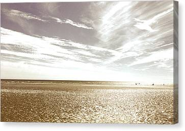 Sepia Beach Canvas Print