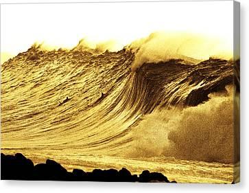 Sepia Curve Canvas Print by Sean Davey