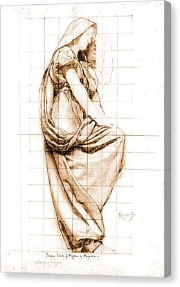 Sepia Drapery Study 1896 Canvas Print by Padre Art