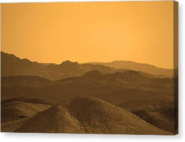 Sepia Mountains Canvas Print