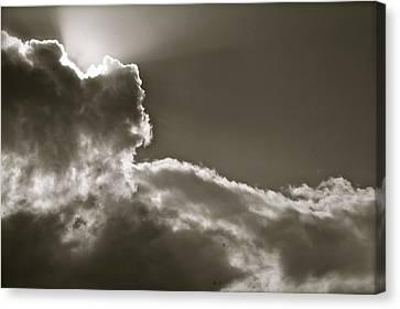 Sepia Sun Ray Canvas Print