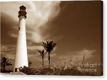Sepia Tone Cape Florida Light Canvas Print