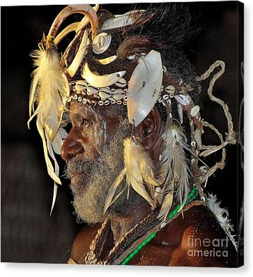 Sepik River Elder Canvas Print