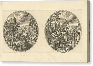 Wine Scene Canvas Print - September And October, Adriaen Collaert, Hans Bol by Adriaen Collaert And Hans Bol And Hans Van Luyck
