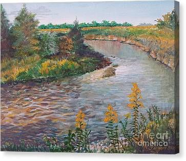 September At Creekside Canvas Print