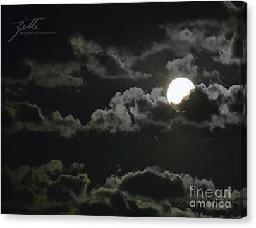 September Moon Canvas Print by Suzette Kallen