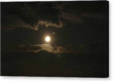 Canvas Print featuring the photograph September Moonlight by Emmy Marie Vickers