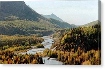 September Morning In Alaska Canvas Print by Denyse Duhaime