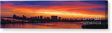 September Sunrise Canvas Print by David Call