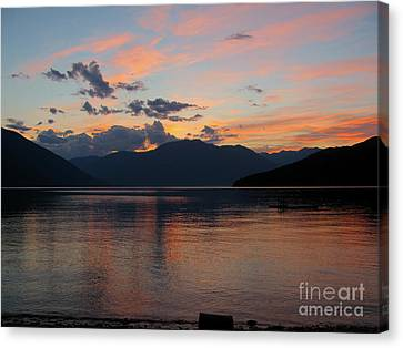 September Sunset Canvas Print by Leone Lund