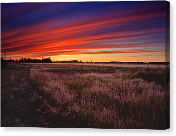 September Sunset North Pole Alaska Canvas Print