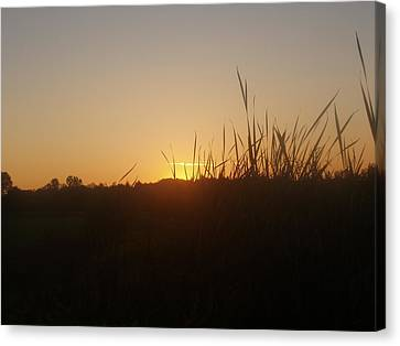 Canvas Print featuring the photograph September Sunset by Teresa Schomig