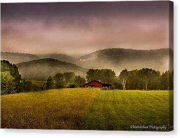 Sequatchie Vally Red Barn Canvas Print by Paul Herrmann