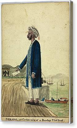 Serang Of A Bombay Pilot Boat Canvas Print