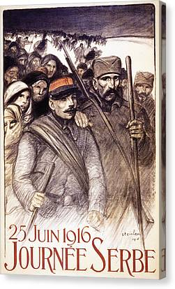 Serbian Day, 1916 Canvas Print by Theophile Alexandre Steinlen