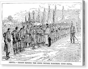 Serbo-bulgarian War, 1885 Canvas Print by Granger