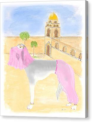 Canvas Print featuring the painting Serena All Set For Arabian Nights by Stephanie Grant