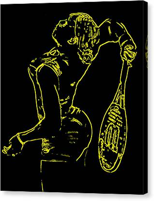Serena Glowing Catsuit Canvas Print by Brian Reaves