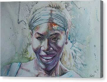 Australian Open Canvas Print - Serena Williams - Portrait 1 by Baris Kibar