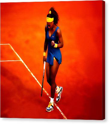 Serena Williams 4a Canvas Print by Brian Reaves