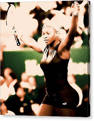 Grand Slam Canvas Print - Serena Williams Catsuit IIi by Brian Reaves