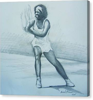 Serena Williams Canvas Print by Howard Stroman