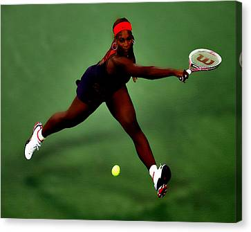 Grand Slam Canvas Print - Serena Williams On Point by Brian Reaves