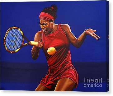 Slam Canvas Print - Serena Williams Painting by Paul Meijering
