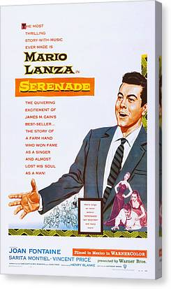 Serenade, Us Poster Art, Mario Lanza Canvas Print by Everett