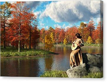 Serenading The Fall Canvas Print by Daniel Eskridge