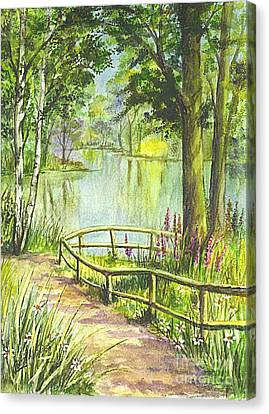 Serendipity Stroll Canvas Print by Carol Wisniewski