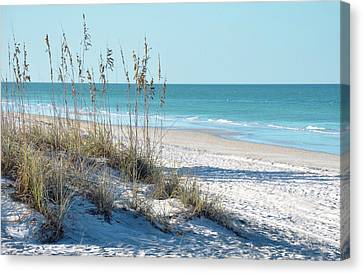 Sea And Sky Canvas Print - Serene Florida Beach Scene by Rebecca Brittain
