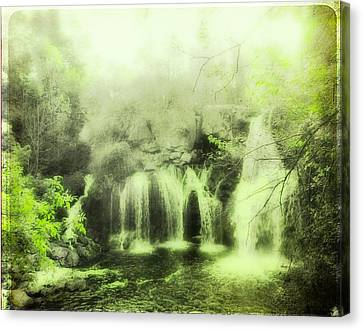 Soft And Serene Green Falls Canvas Print by Gothicrow Images