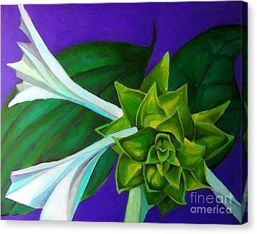 Serene Green One Canvas Print