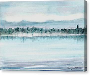 Serene Lake View Canvas Print by Mickey Krause