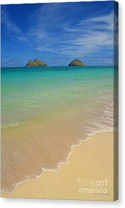 Serene Lanikai Beach Canvas Print by Aloha Art