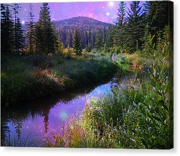 Serene Mountain Moment Canvas Print by Shirley Sirois