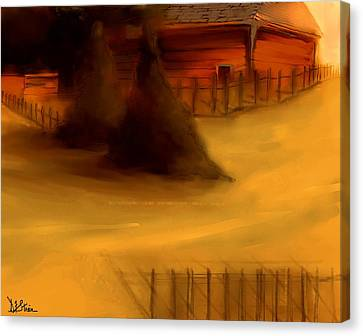 Serene New England Cabin In Autumn #3 Canvas Print by Diane Strain