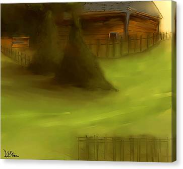 Serene New England Cabin In Summer  #7 Canvas Print by Diane Strain
