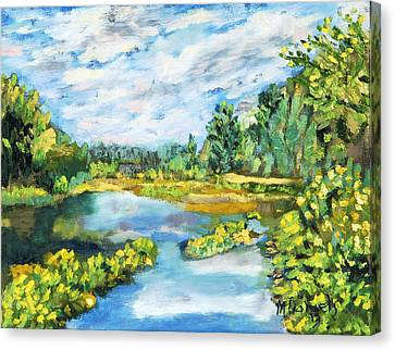 Serene Pond Canvas Print by Michael Daniels