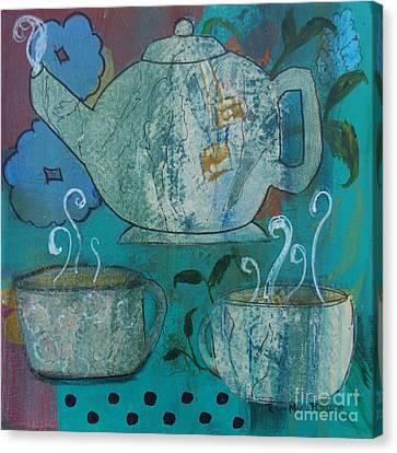 Serene Tea Canvas Print by Robin Maria Pedrero