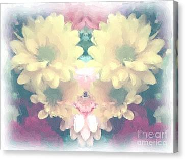 Canvas Print featuring the photograph Serene Zinnias by Luther Fine Art