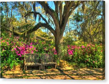 Canvas Print featuring the photograph Serenity Bench by Ed Roberts